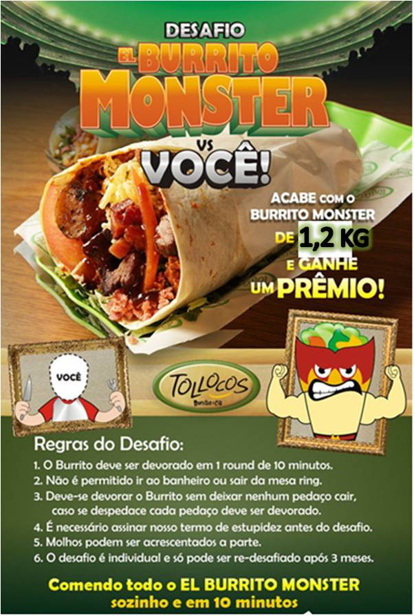 Novo desafio Burritos Monster